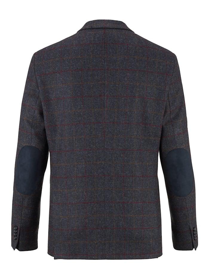 Vlněné sako s károvaným vzorem z barvených vláken