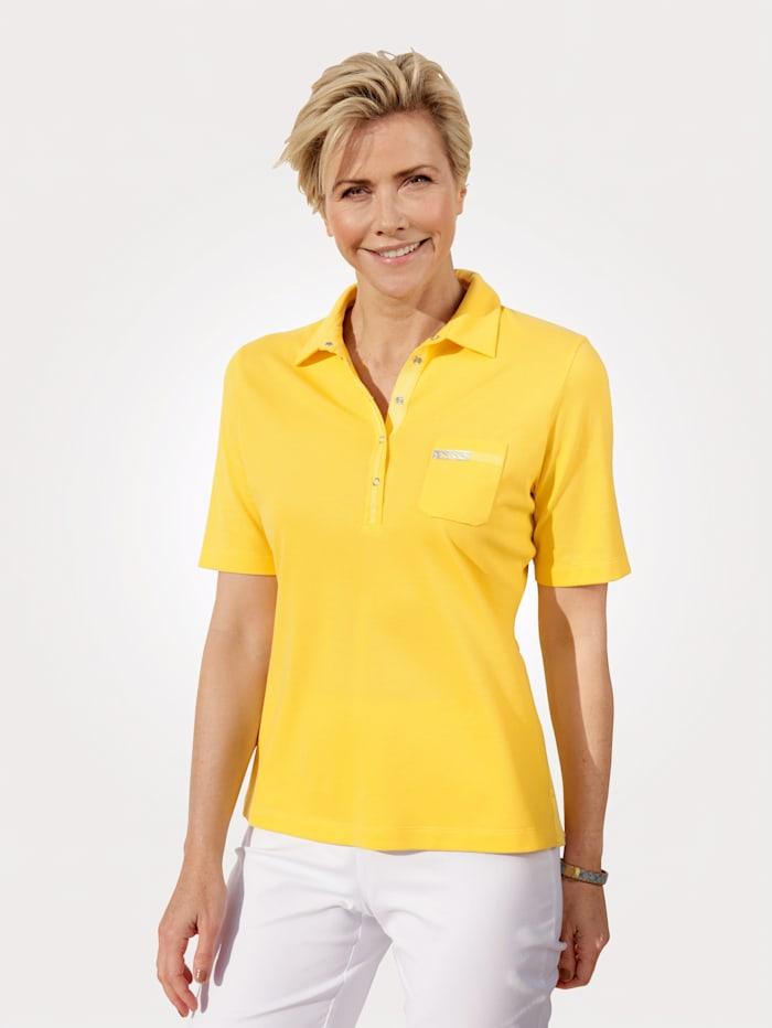 Rabe Poloshirt in Piqué-Qualität, Gelb