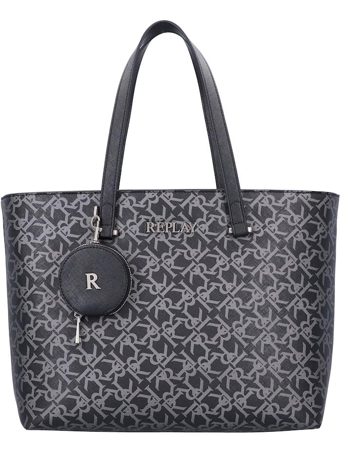 REPLAY Shopper Tasche 34 cm, black