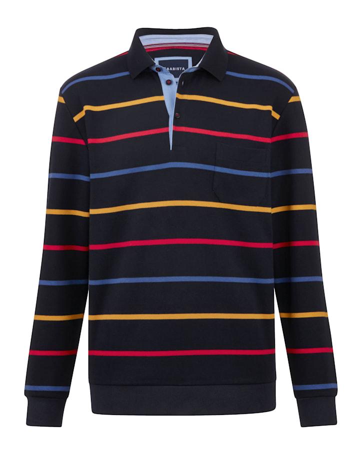 BABISTA Sweatshirt mit garngefärbten Streifen, Marineblau/Multicolor