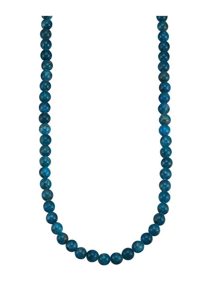 Amara Farbstein Apatit-Kette, Blau