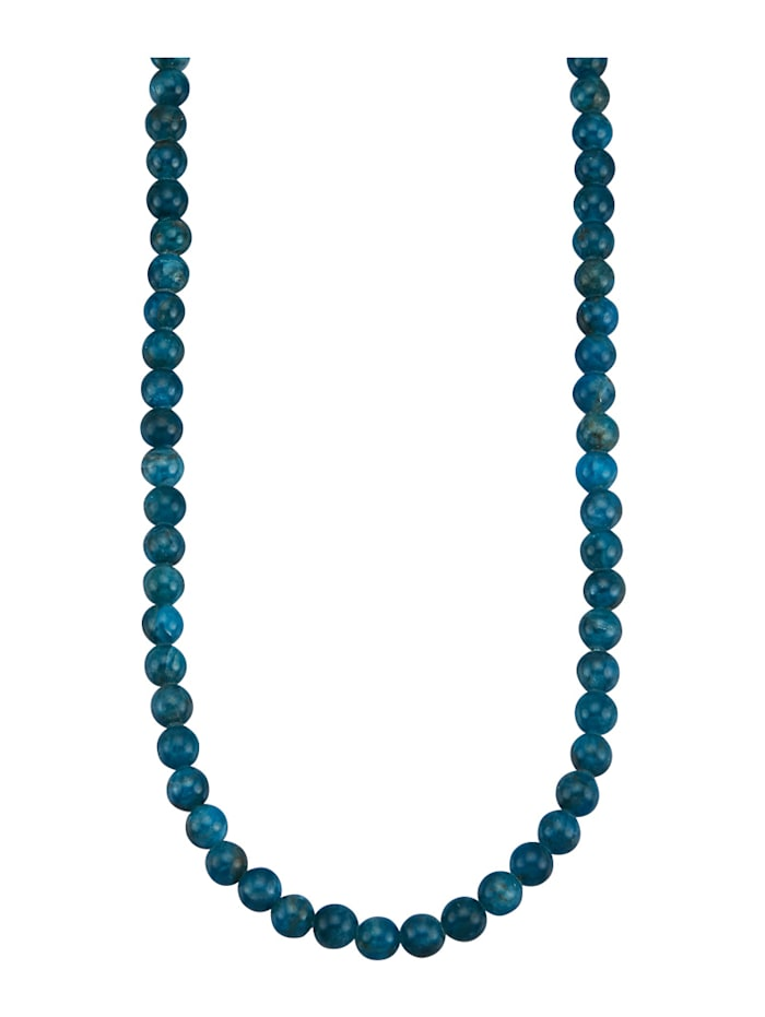 Diemer Farbstein Apatit-Kette in Silber 92, Blau