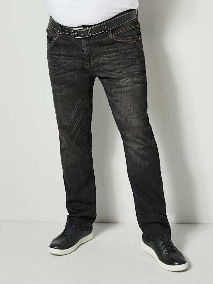 Men Plus Jeans Straight Fit, Black