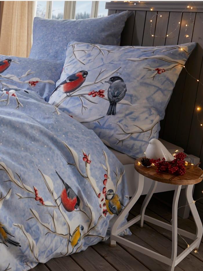 2-delige set bedlinnen Wintervogels