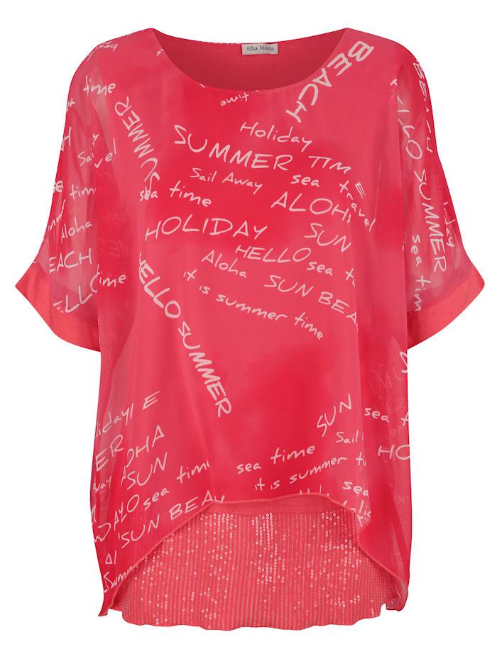 Strandshirt mit Pailletten
