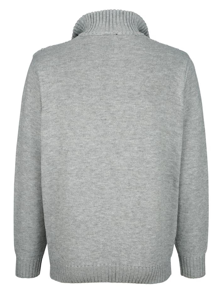 Vest met contrasterende details