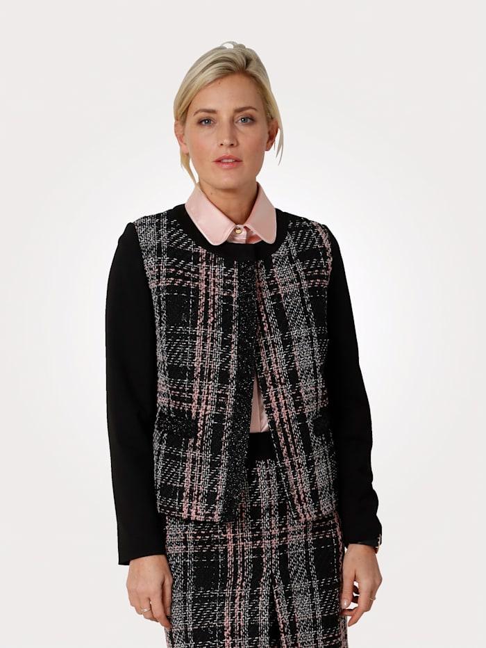 MONA Blazer in Bouclé-Qualität, Schwarz/Rosé