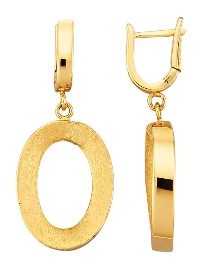Diemer Gold Kultaiset korvakorut 585-keltakultaa, Keltakullanvärinen