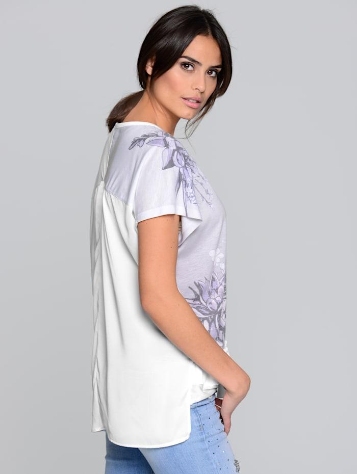 Shirt mit Rückenteil aus Chiffon