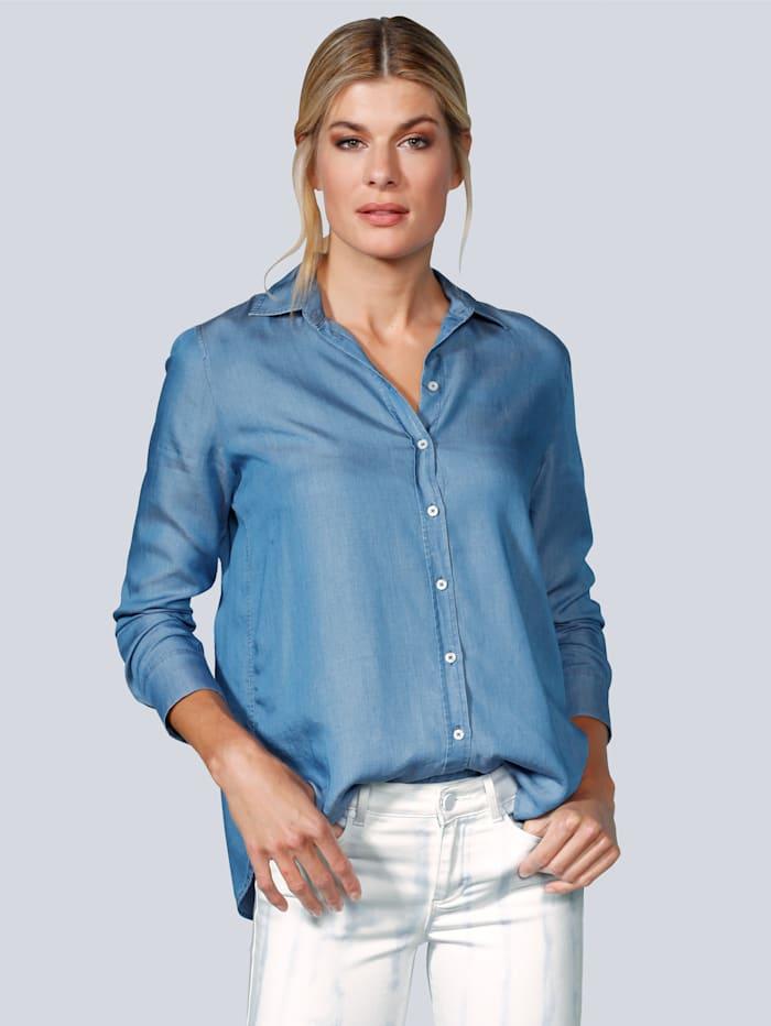 BRAX Bluse in schöner Ware, Blau