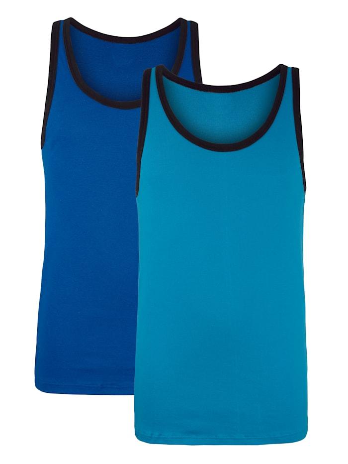 G Gregory Hemden per 2, Blauw/Turquoise