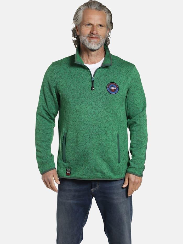 Jan Vanderstorm Fleece-Sweatshirt DAUBE, grün