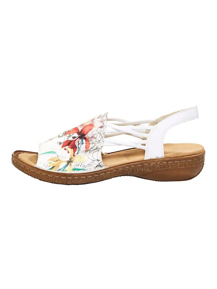 Sandale mit gekreuzten Gummibändern