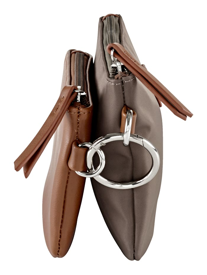 Pochette à cosmétiques noué avec noeud élégant 2 pièces