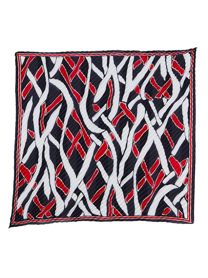 Sjal med trendigt mönster