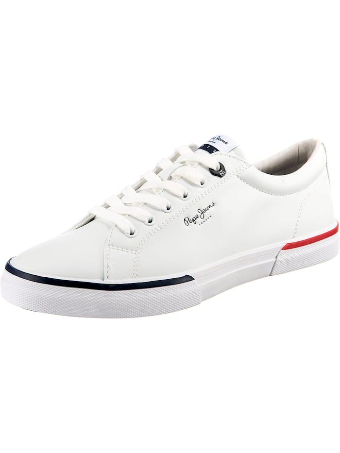 Pepe Jeans Kenton Smart Court Sneakers Low, weiß
