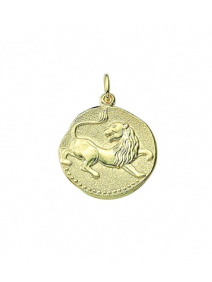 1001 Diamonds Damen & Herren Goldschmuck 333 Gold Sternzeichen Anhänger Löwe Ø 18,2 mm, gold