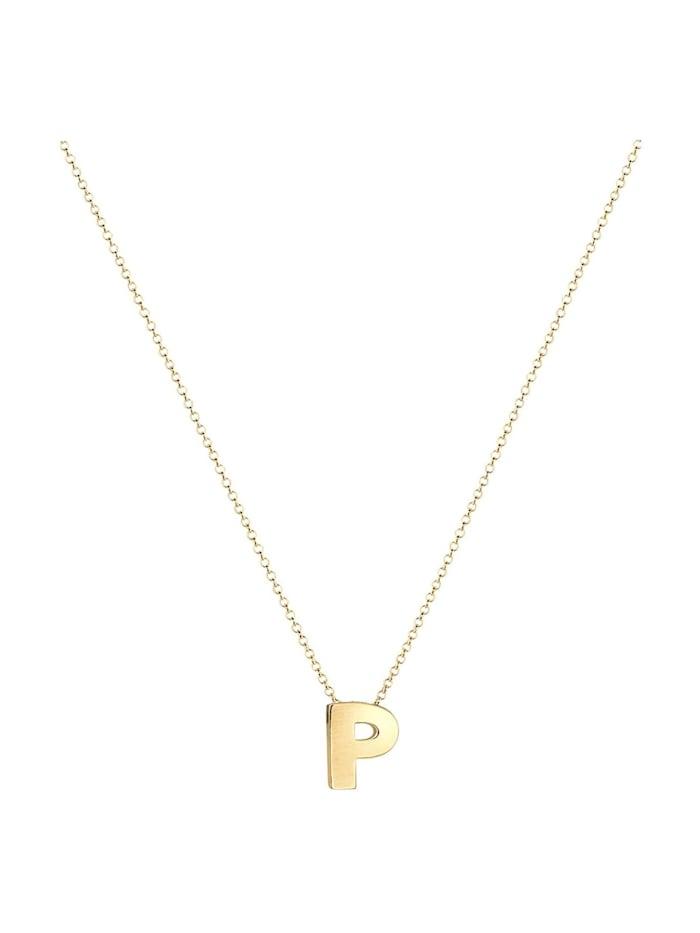 Halskette Buchstabe P Initialen Trend Minimal 925 Silber