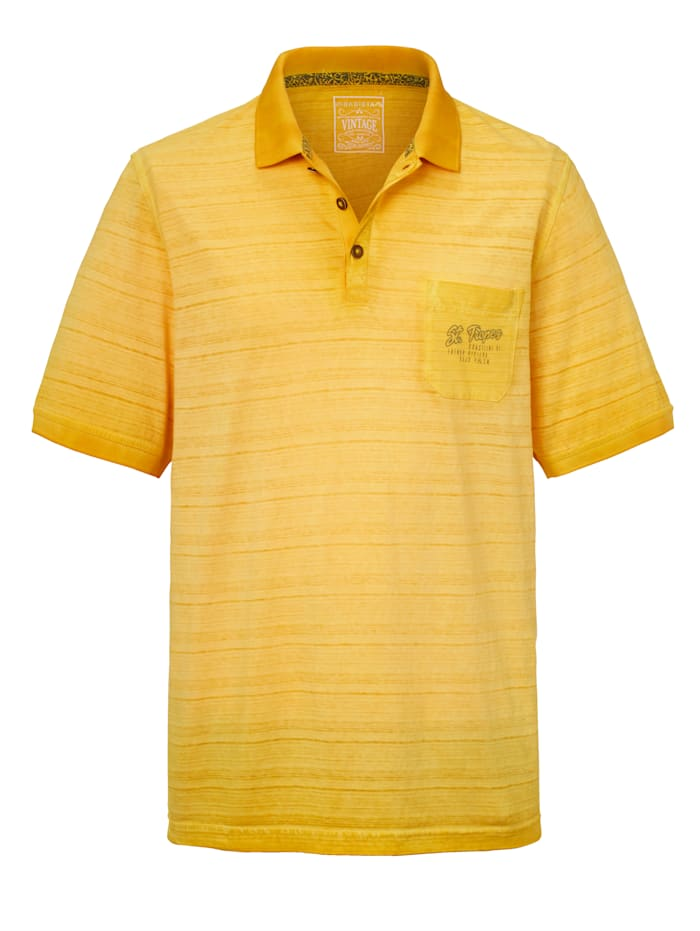 BABISTA Poloshirt im Vintage-Style, Gelb