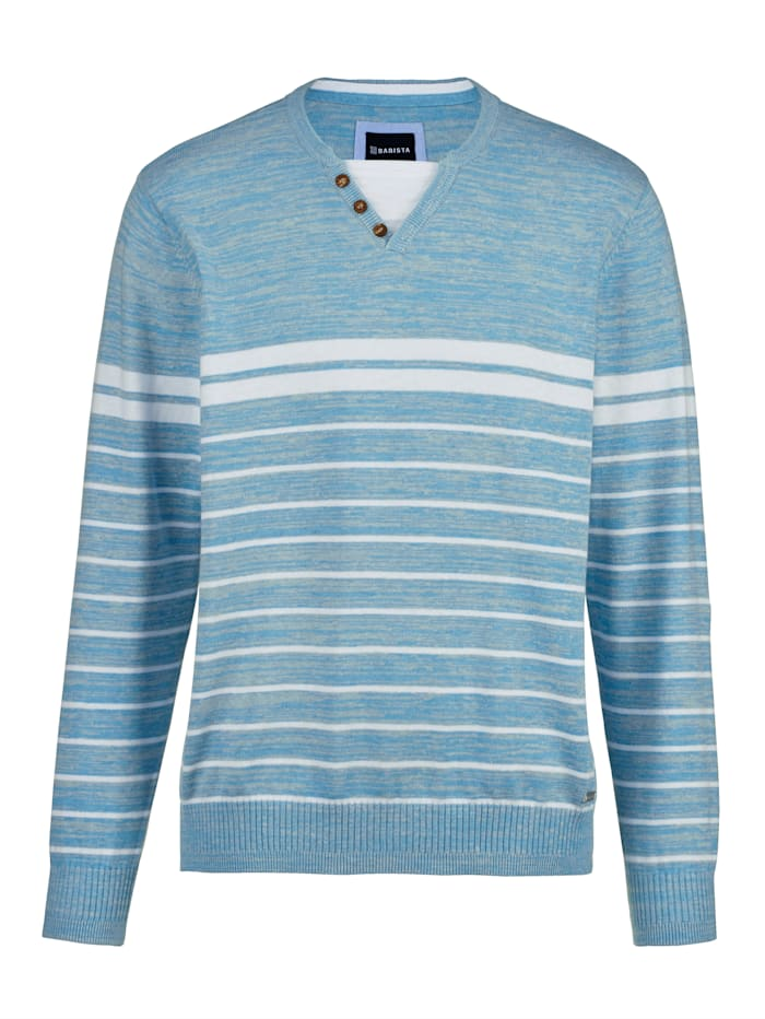 BABISTA Pull-over en maille chinée, Turquoise