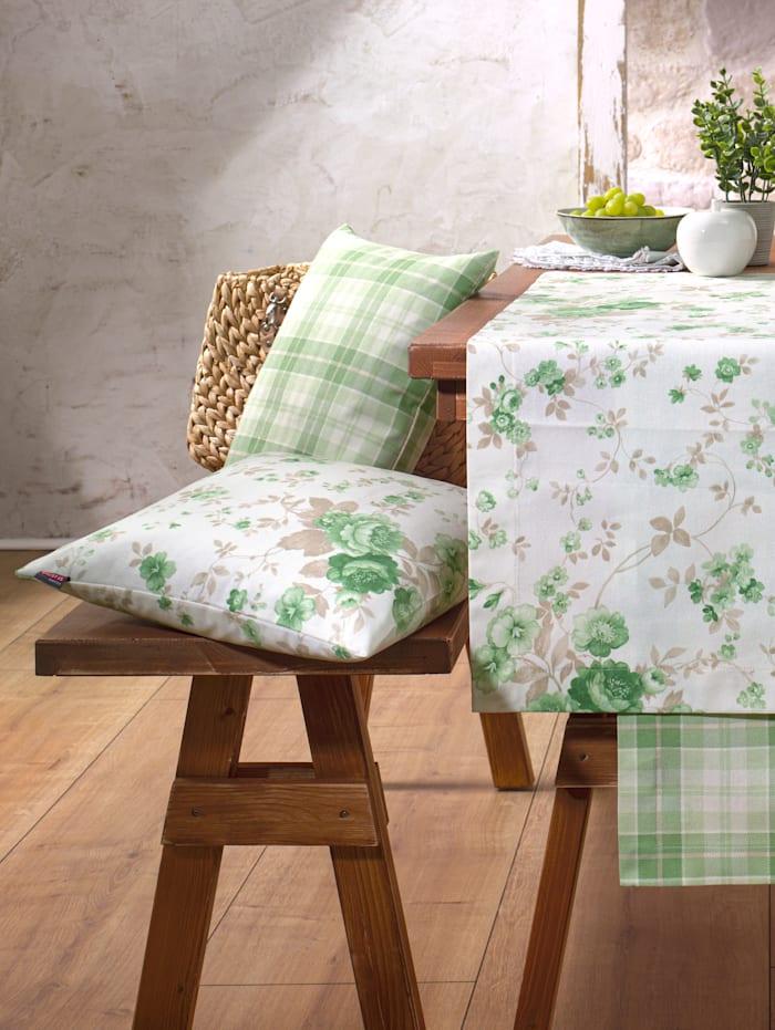 Hossner Obliečka na vankúš, ecru/zelená