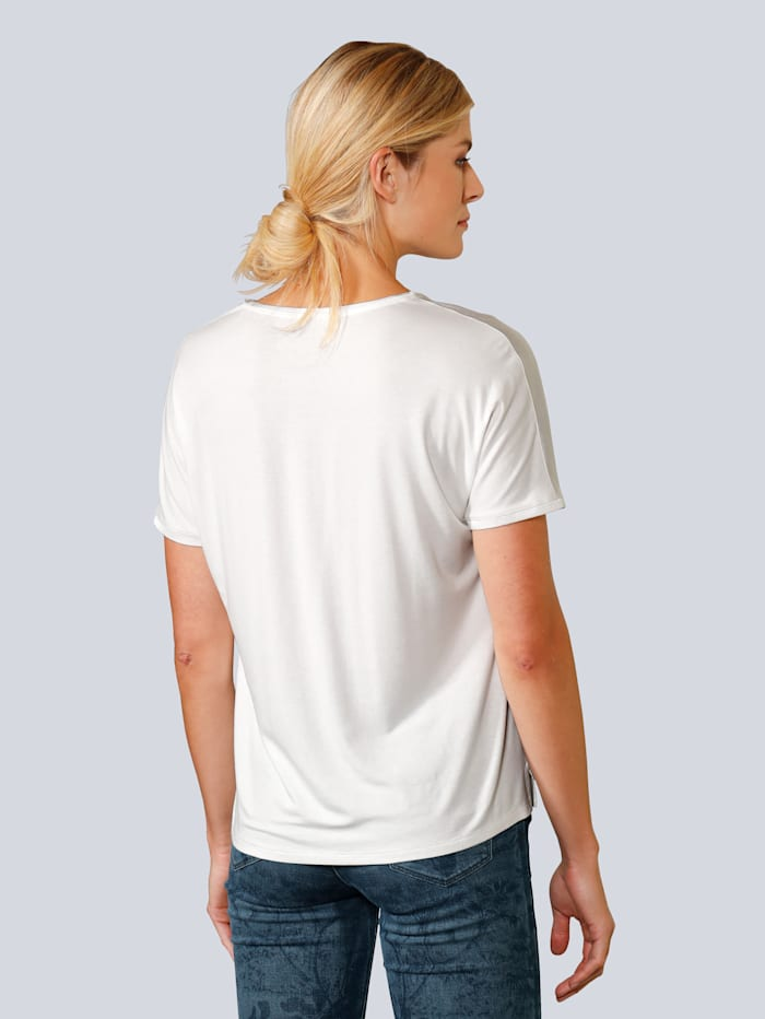 Blusenshirt mit kurzen Ärmeln