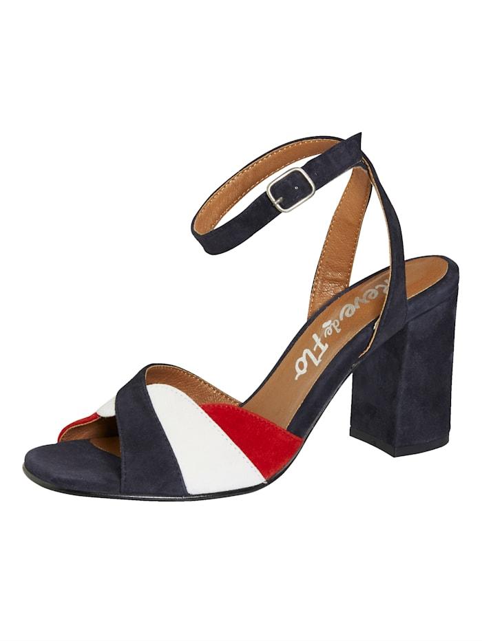 Sandaletter i läcker färgmix, Marinblå