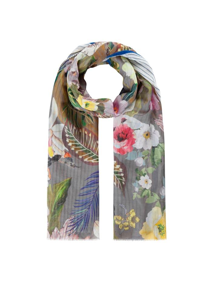 Codello Premium Schal aus Baumwolle und Modal, grey