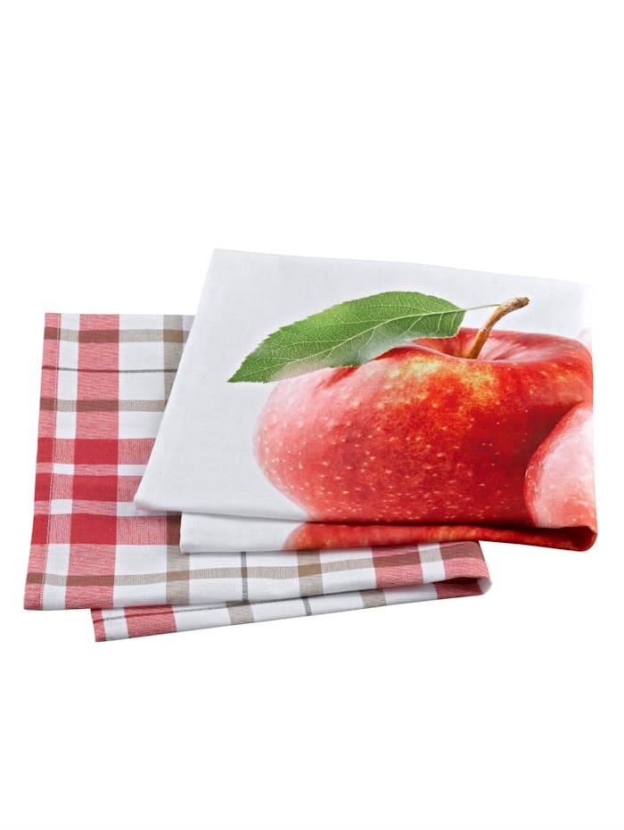 """Astiapyyhe """"Omena"""", 2/pakkaus, Monivärinen"""