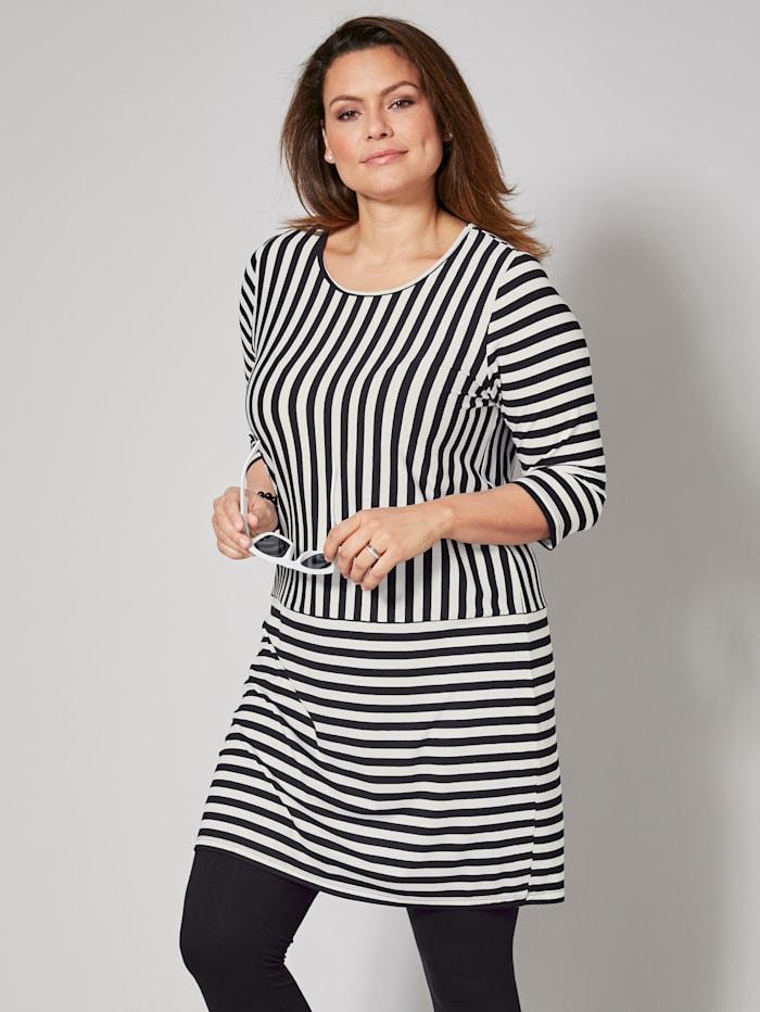 Jersey-Kleid gestreift