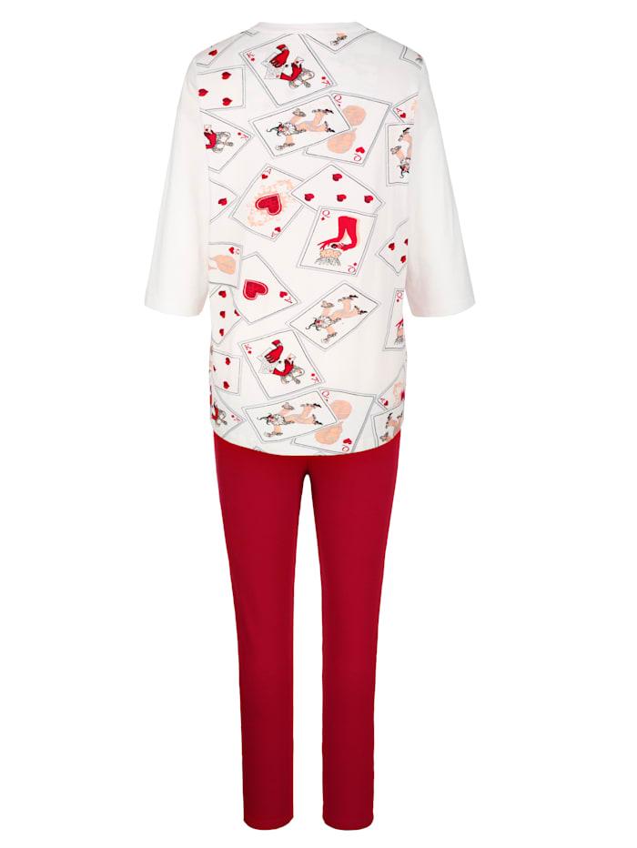 Pyjama's per 2 stuks met gedessineerde achterkant