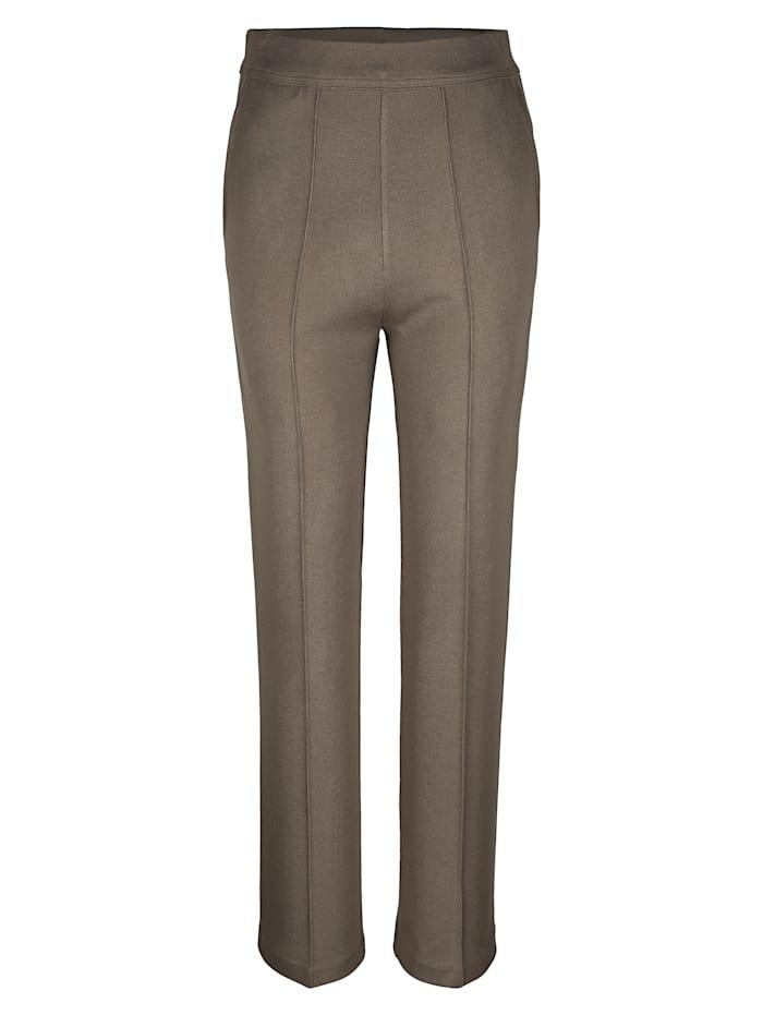 Dannecker Pantalon à plis surpiqués, Sable