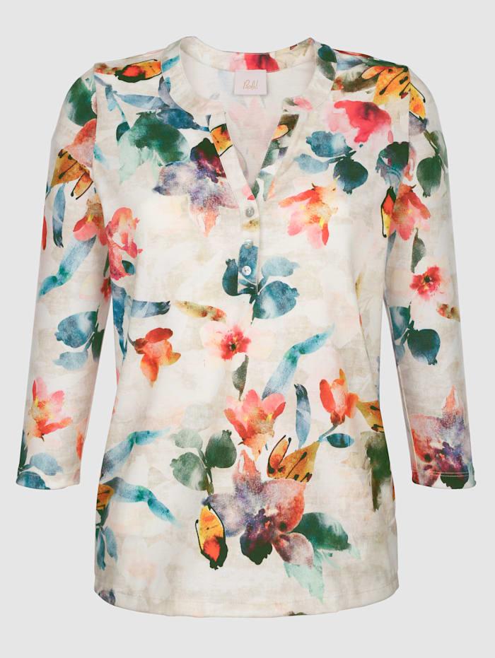 Shirt met mooie print rondom