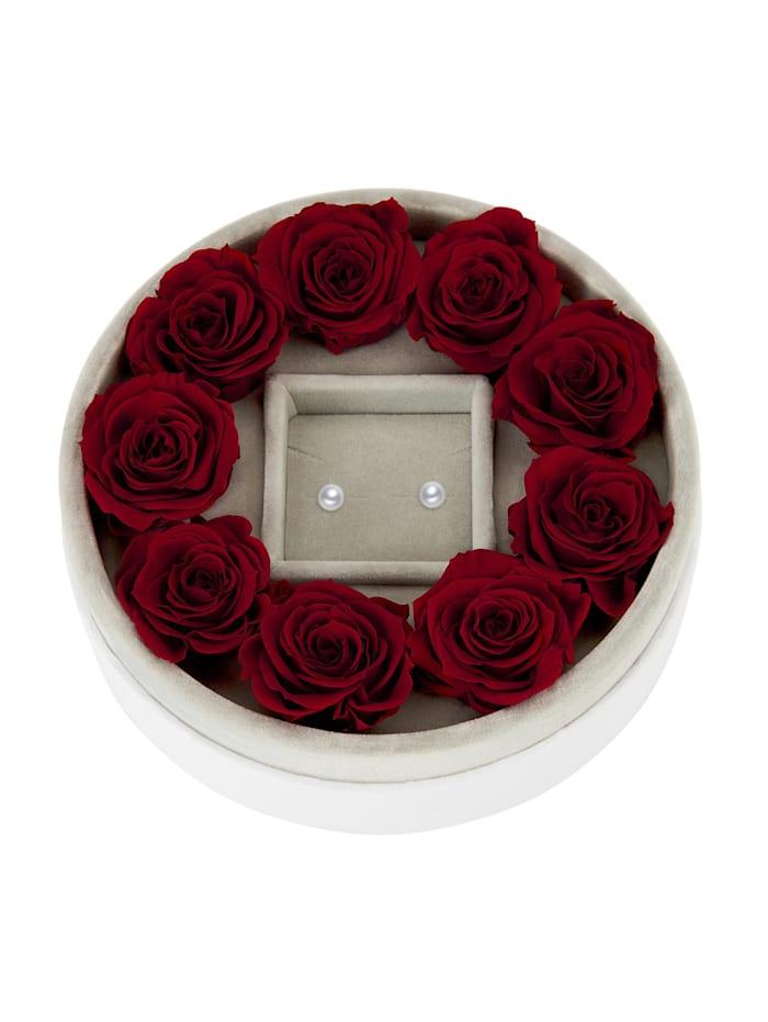 Mia Milano Schmuckaufbewahrung Rosen Schmuckbox, rot