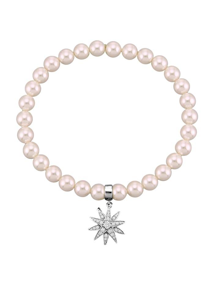 Atelier Imperial Sisi Armband mit Swarovski-Perlen, Silberfarben