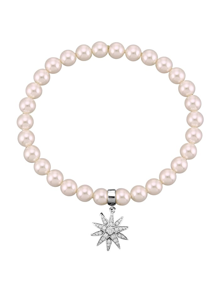 Atelier Imperial Sisi Bracelet avec perles Swarovski, Coloris argent