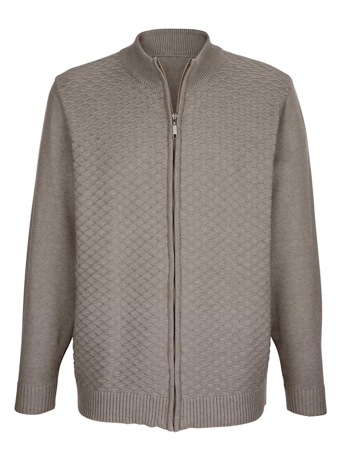 Vest met breipatroon voor