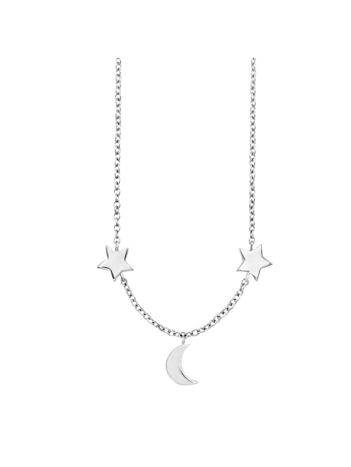 CAI Collier 925/- Sterling Silber 39+5cm rhodiniert, weiß