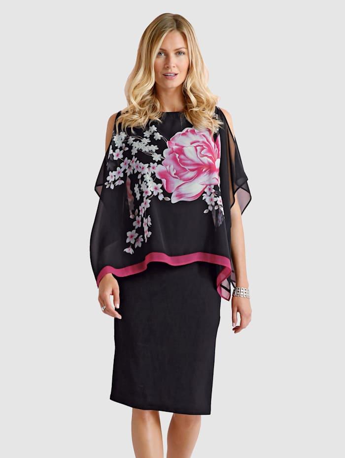 2-in-1-Kleid mit Blütendruck