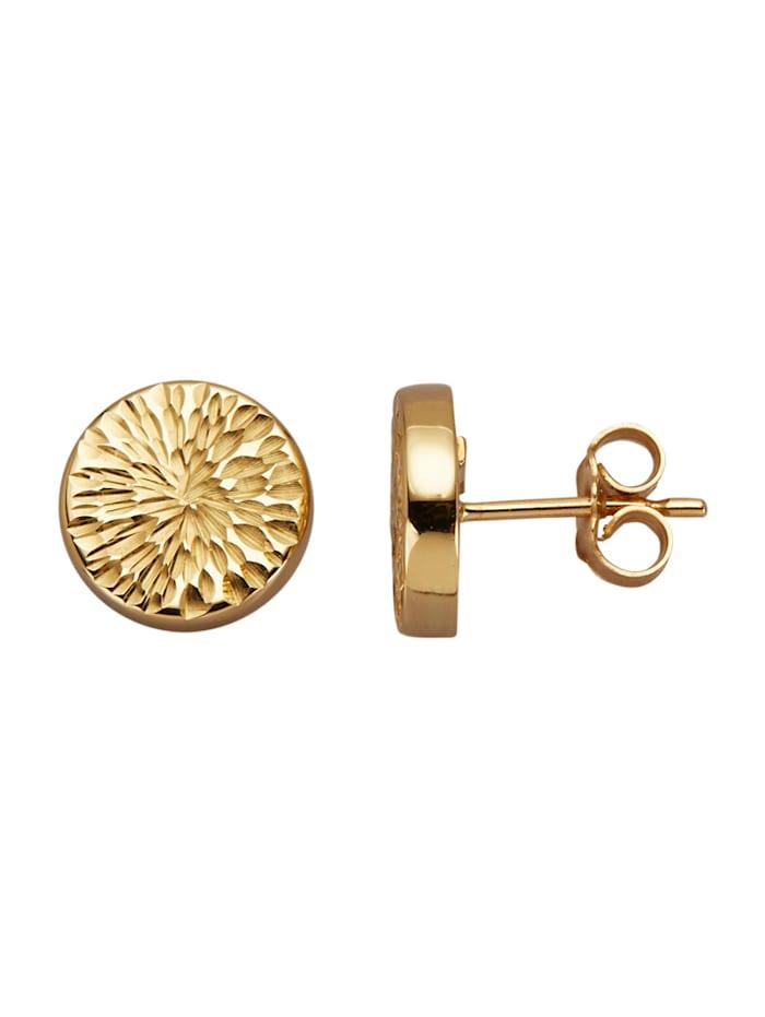 Diemer Gold Rosoiset kultakorvakorut, Keltakullanvärinen