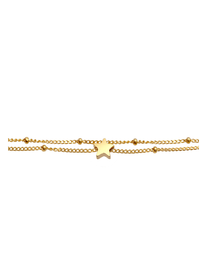 Halskette Layer Choker Sterne Astro Kugelkette 925 Silber