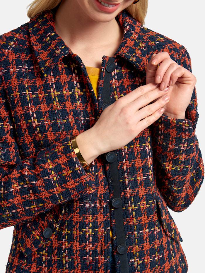 Basler Bouclé Jacke mit Knopfleiste und Pattentaschen | Klingel