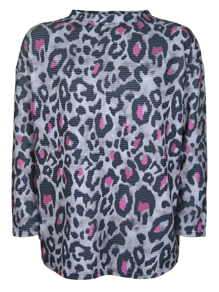 Doris Streich Pullover mit Allover-Muster, pink