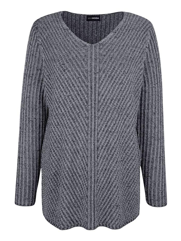 Pullover in melierter Optik