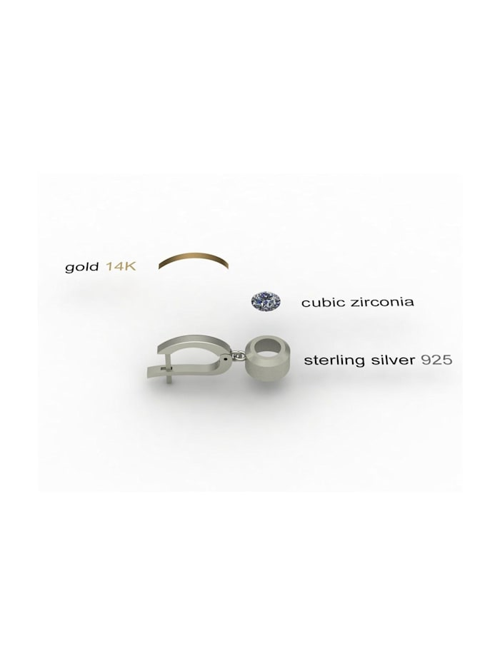 Ohrhänger - Sunny Exklusiv - Silber 925/000 & Gold 585/000 - Zirkonia