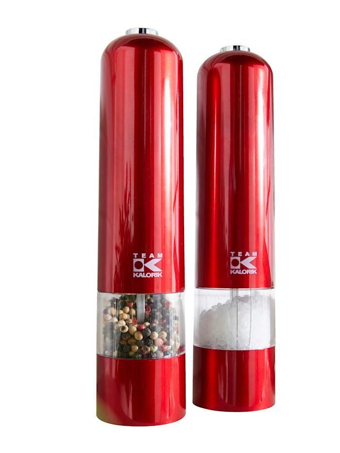 Kalorik 2-d. set mlýnků koření, červená