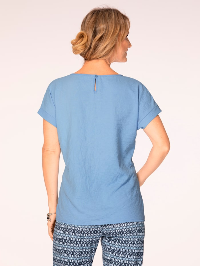 Pull-on blouse with rhinestones