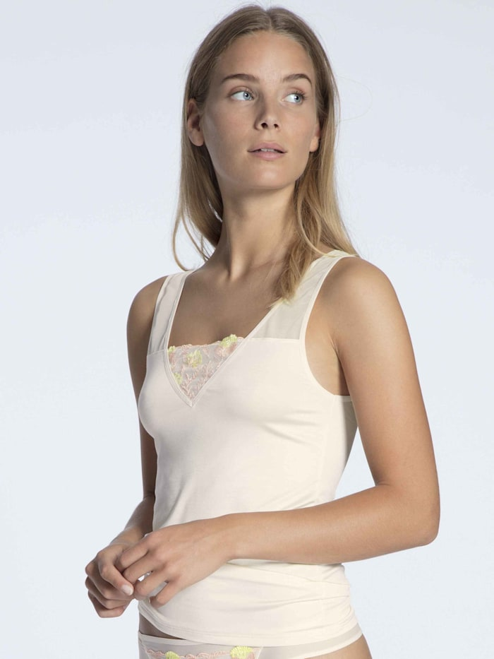 Calida Tank-Top STANDARD 100 by OEKO-TEX zertifiziert, light ivory