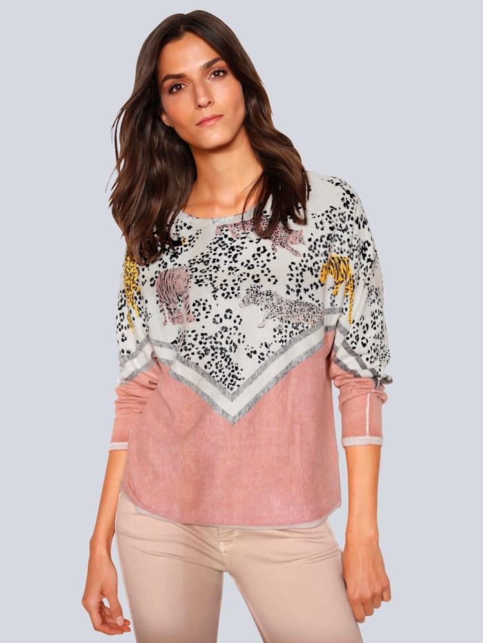 OUI Pullover im modischen Style, Rosé