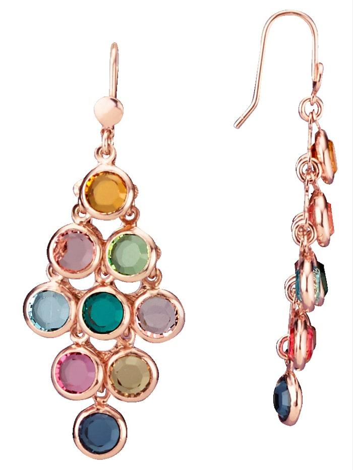 AMY VERMONT Oorhangers met kristalsteentjes, Multicolor